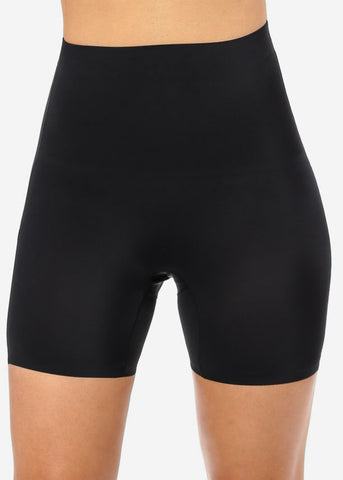 Black High Waist Shapewear Shorts