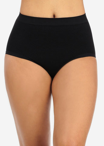 Black High Waist Shapewear Bikini Underwear