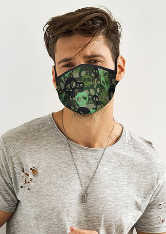 Image of Green Skull Face Cover