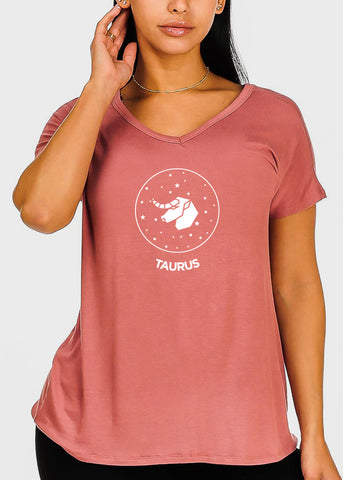 "Image of Rose Graphic Top ""Taurus"""