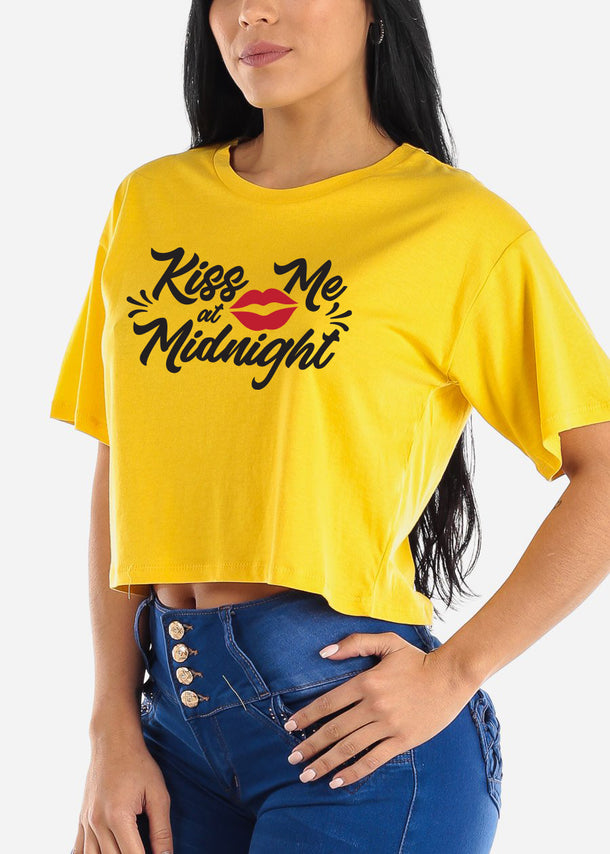 "New Years Graphic Tee ""Kiss Me At Midnight"""