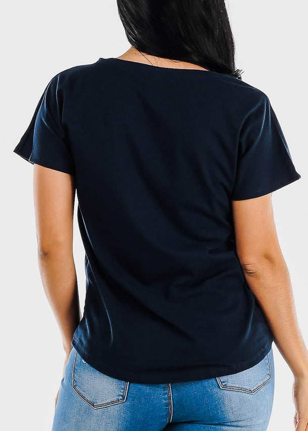 Navy Graphic Tee