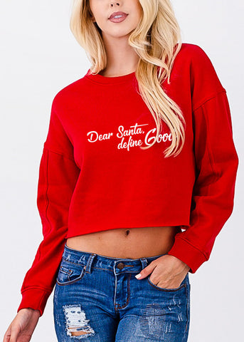 "Image of Christmas Graphic Pullover ""Dear Santa"""