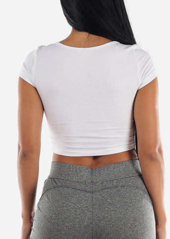 "Image of Christmas Graphic Crop Top ""Morning Person"""