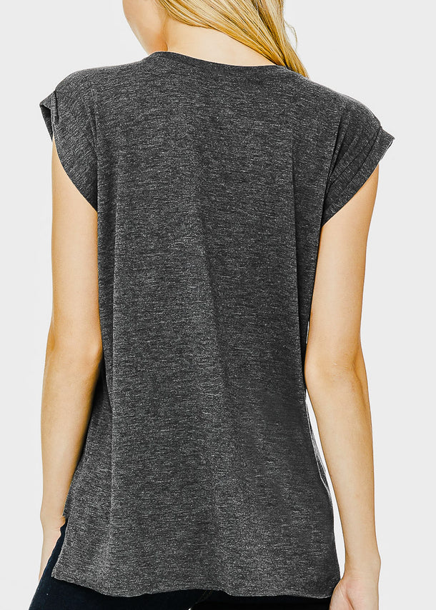 Dark Grey Graphic Tee