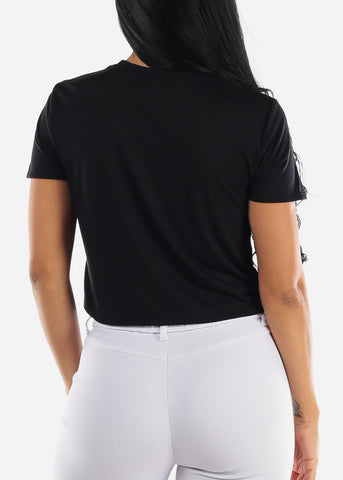 "Image of Black Cropped Graphic Tee ""Perfectly Imperfect"""