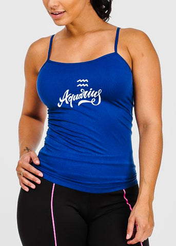 "One Size Royal Blue Graphic Top ""Aquarius"""