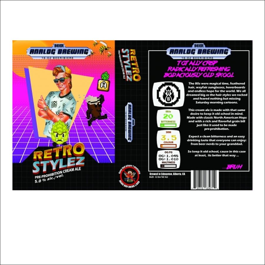 Analog Brewing - Retro Styles Cream Ale 4 Pack - Whisky Drop