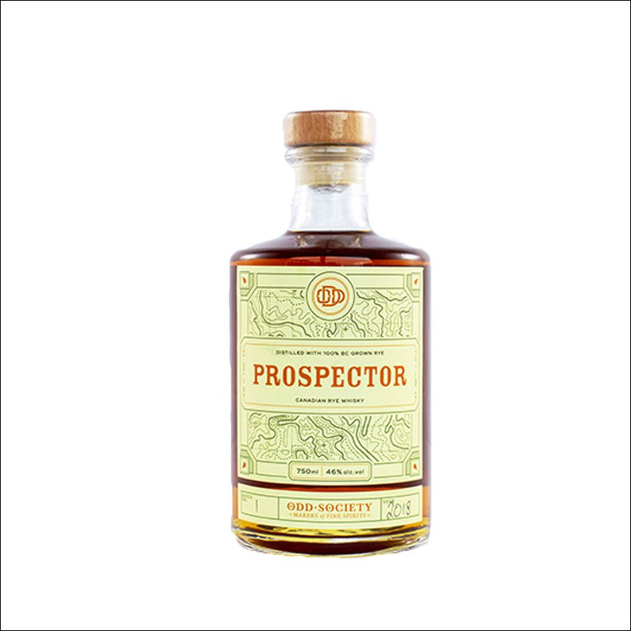 Odd Society Prospector Canadian Rye Whisky Bottle Whisky Drop