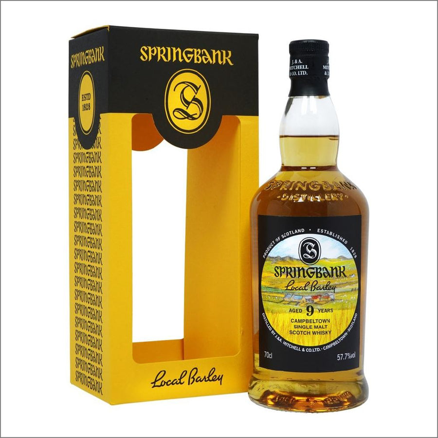 Springbank Local Barley 9 Year Old Bottle Whisky Drop