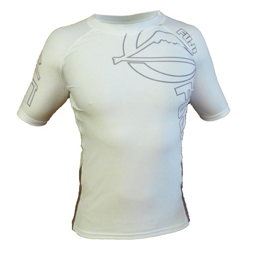 Fuji White Inverted Short Sleeve Rash Guard