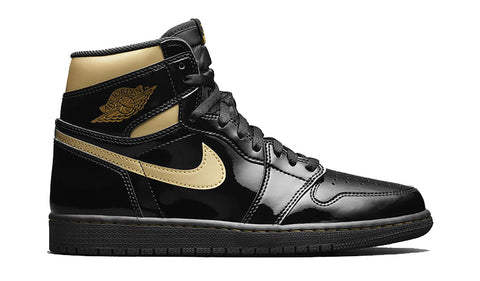 Jordan 1 Patent Black Metallic Gold (2020)