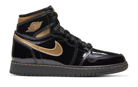 Jordan 1 High Black Metallic Gold (2020) (GS)