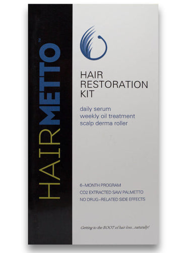 HAIRMETTO® Hair Restoration Kit with Titanium Dermaroller - HAIRMETTO