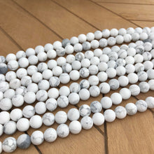 Load image into Gallery viewer, Natural Matte White Howlite Round Beads