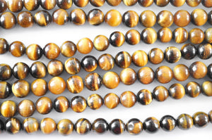 Natural Tiger Eye Bead Strand