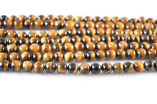 Load image into Gallery viewer, Natural Tiger Eye Bead Strand
