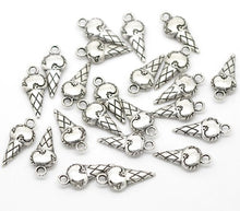 Load image into Gallery viewer, 10 pcs - Ice Cream Cone Charms
