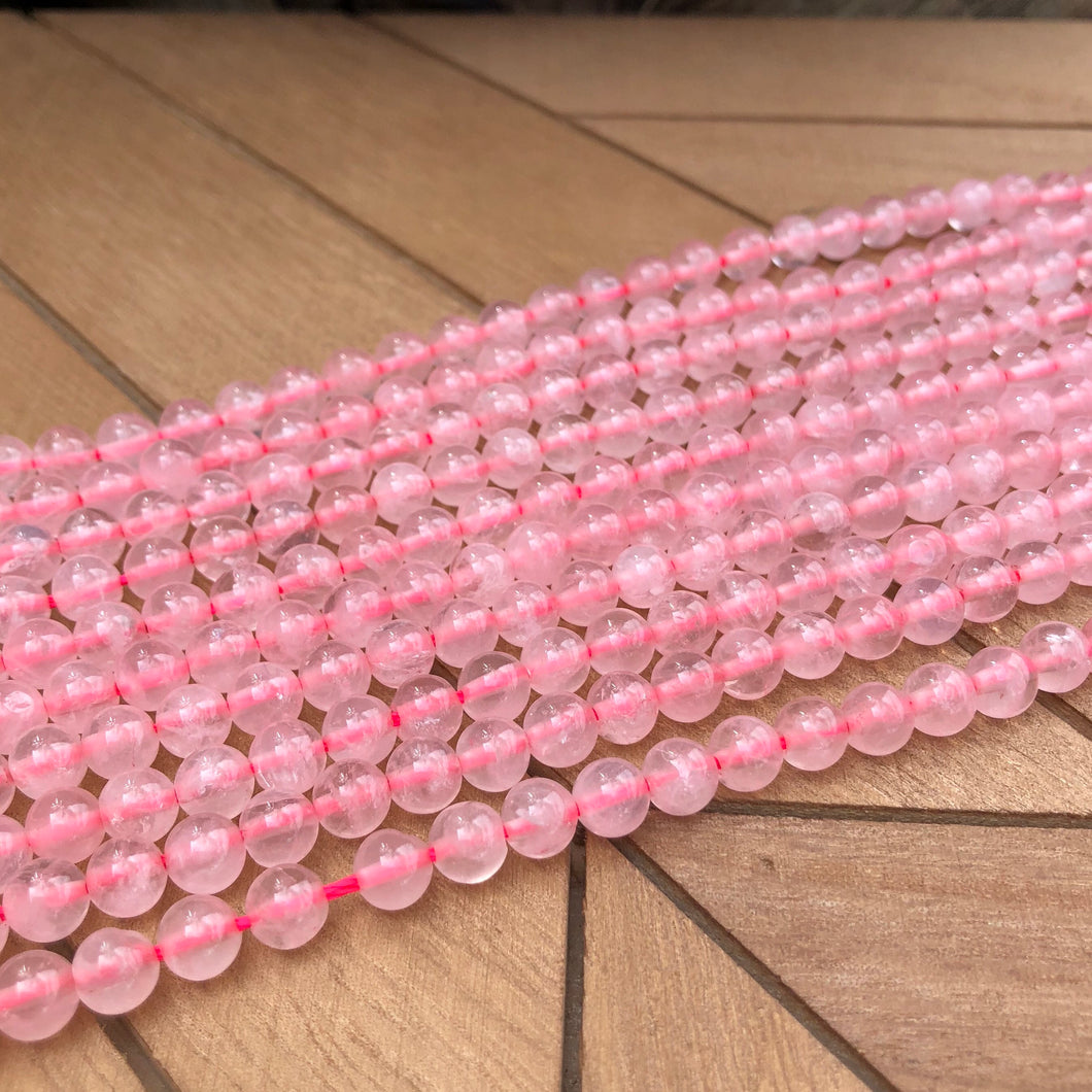 6mm Rose Quartz Gemstone Beads