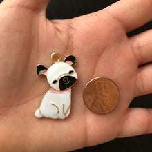 Load image into Gallery viewer, Dog Enamel Charm, Pug Charm, Dog Charm, Keychain Charm