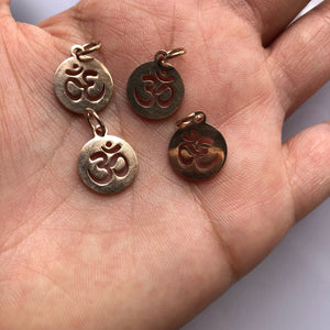 Stainless Steel Rose Gold Ohm Charm
