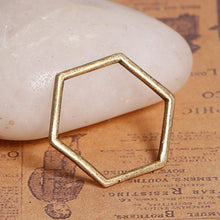 Load image into Gallery viewer, 10 pcs - Honeycomb Charm, Hexagon Charms, Geometric Charms,