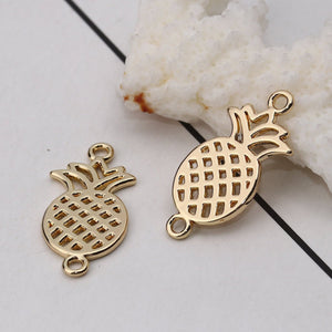 5 pcs - Gold Pineapple Connector