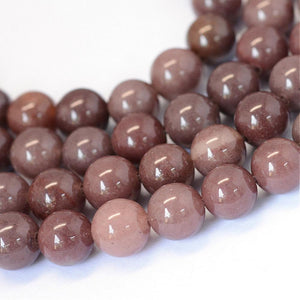 Natural Purple Aventurine Round Bead Strands
