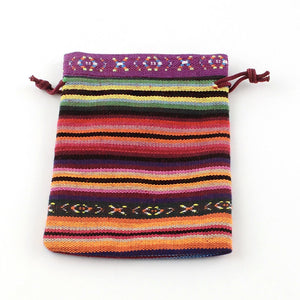 5 pcs - Cloth Pouch, Jewelry Bag, Drawstring Bags