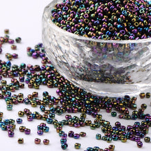 Load image into Gallery viewer, 2 oz - 12/0 Glass Seed Beads, Iris Round, Colorful