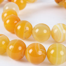 Load image into Gallery viewer, 10 mm - Natural Agate Gemstone Beads, Dyed Agate Beads, Ambar Agate Beads