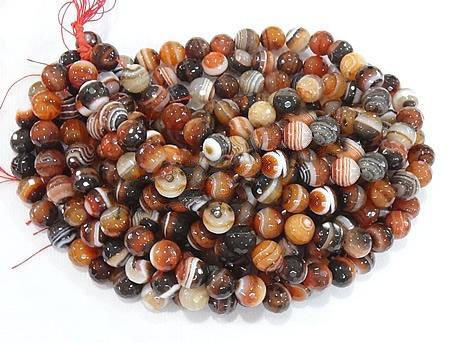 8 mm - Miracle Agate Beads, Brown Agate Beads, Faceted Beads