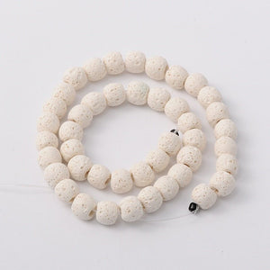 Dyed White Lava Beads, Oil Diffuser Beads