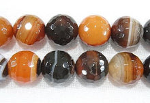 Load image into Gallery viewer, 8 mm - Miracle Agate Beads, Brown Agate Beads, Faceted Beads