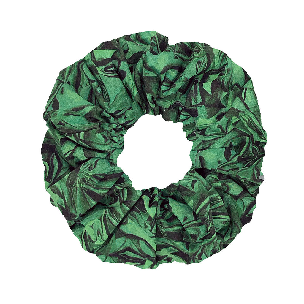 Scrunchie -Green giftwrap
