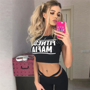 Women Sexy Running Padded Sports T-Shirts+Leggings - Better Business Plus