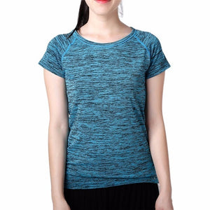 Women Quick Dry Sport Yoga Shirt Short Sleeve Breathable Exercises Yoga Top - Better Business Plus
