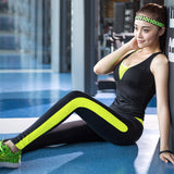 New Women Skintight Fitness Suits Breathable Elastic Sportswear Sets - Better Business Plus