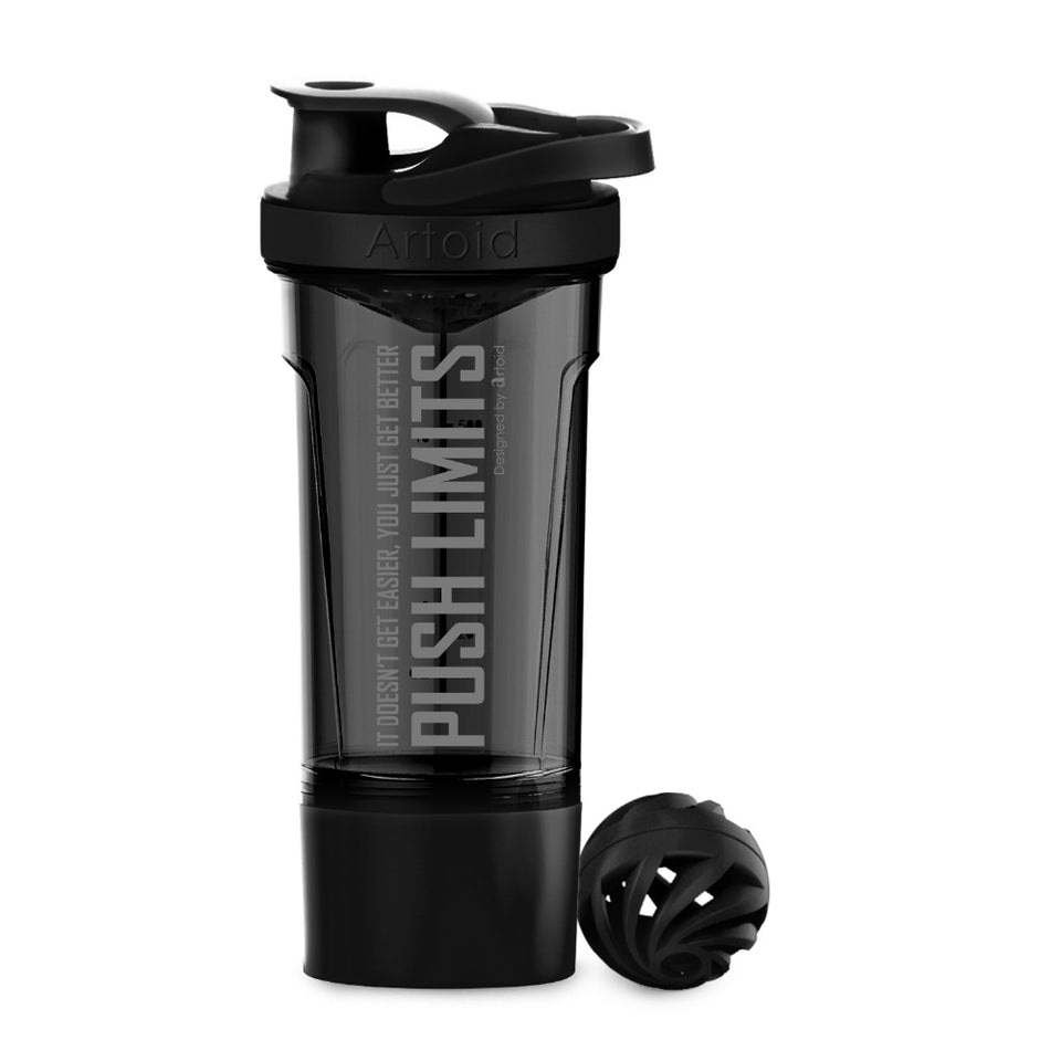 720ml Inspirational Sports Protein Shaker Bottle Dual Mixing Technology with Shaker Ball - Better Business Plus