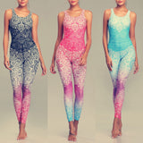 LI-FI Mandala Print Yoga Set Fitness Women Sports Running Suit - Better Business Plus