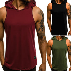 Men Fitness Hoodies Tank Tops Sleeveless Bodybuilding Tee Shirt - Better Business Plus