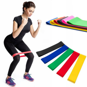 Training Band Pilates Yoga Exercise Gym Loop Solid Resistance Yoga strap belt - Better Business Plus