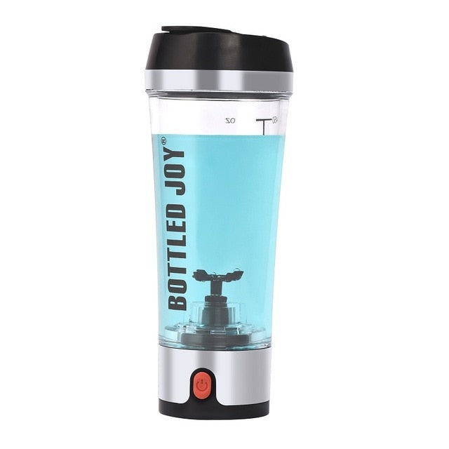 Rechargeable sports joyshaker water bottle electric shaker gym protein 450ml/16OZ - Better Business Plus