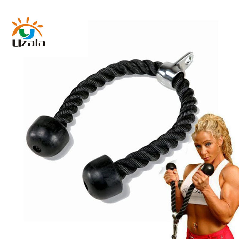 New fitness accessories Tricep Rope Abdominal Crunches Cable - Better Business Plus