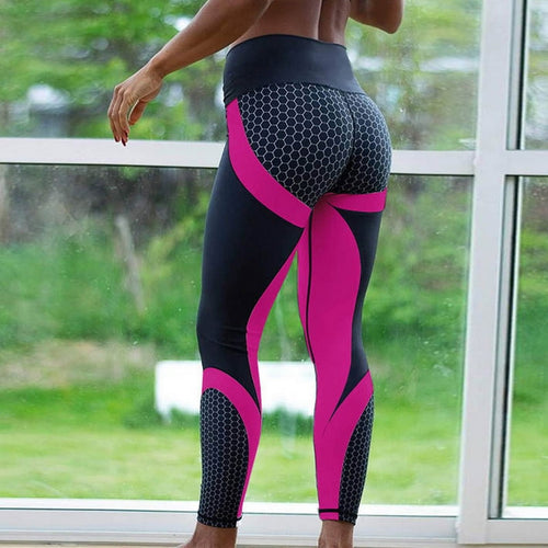 Hot Honeycomb Printed Yoga Pants - Better Business Plus