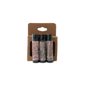 3-Pack Natural Lip Balm ~ Sweet Treats Collection