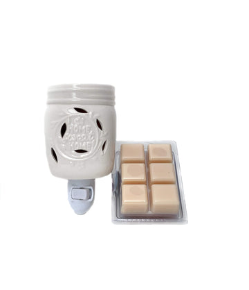 Fragrance Warmer ~ Home Sweet Home Plug-in with FREE Wax Melt