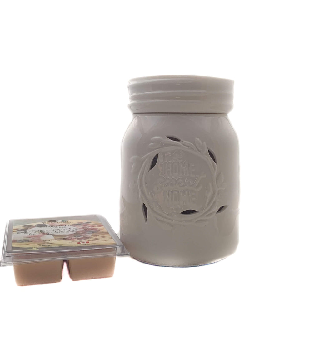 Fragrance Warmer ~ Home Sweet Home Warmer with FREE Wax Melt