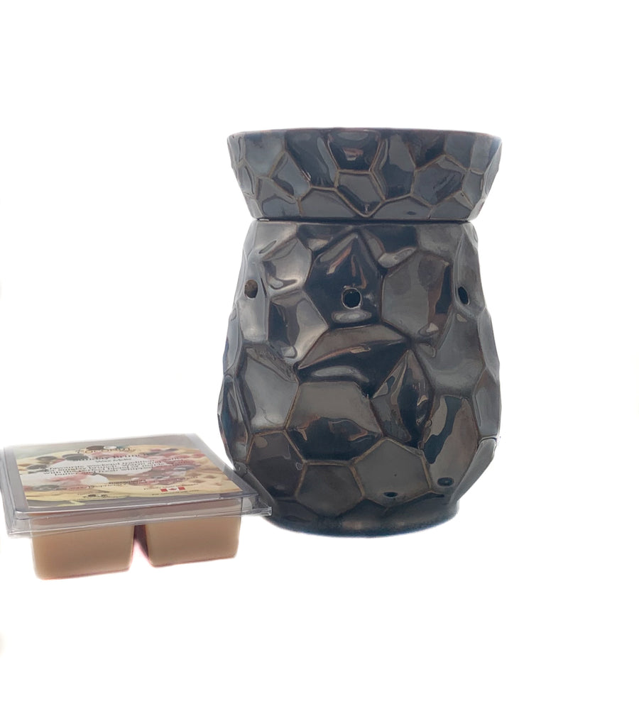 Fragrance Warmer ~ Hammered Navy Warmer with FREE Wax Melt