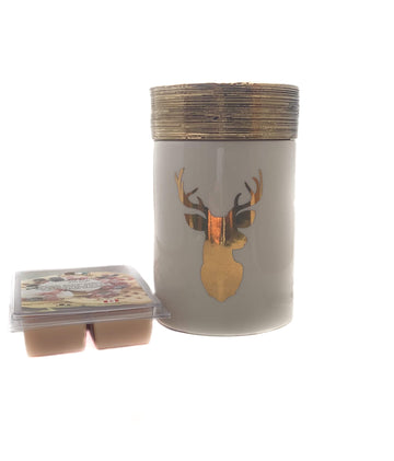 Fragrance Warmer ~ Golden Stag Warmer with FREE Wax Melt